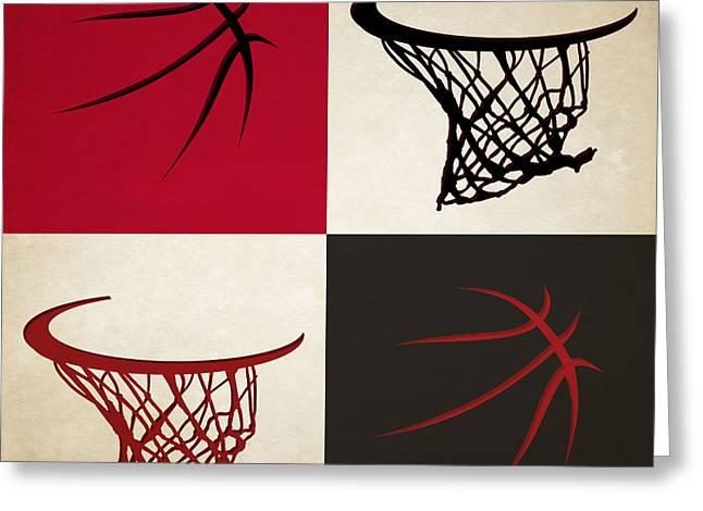 Bulls Ball And Hoop Greeting Card