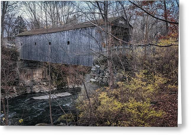 Bulls Bridge Covered Bridge Greeting Card