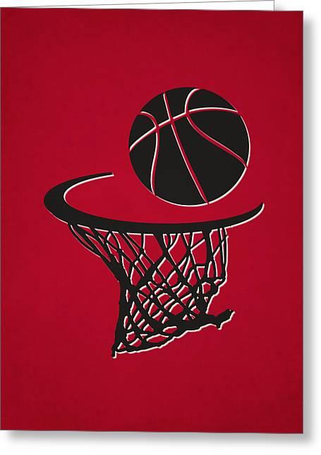 Bulls Team Hoop2 Greeting Card