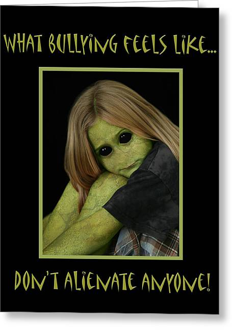 Bully Greeting Card by Karen Walzer