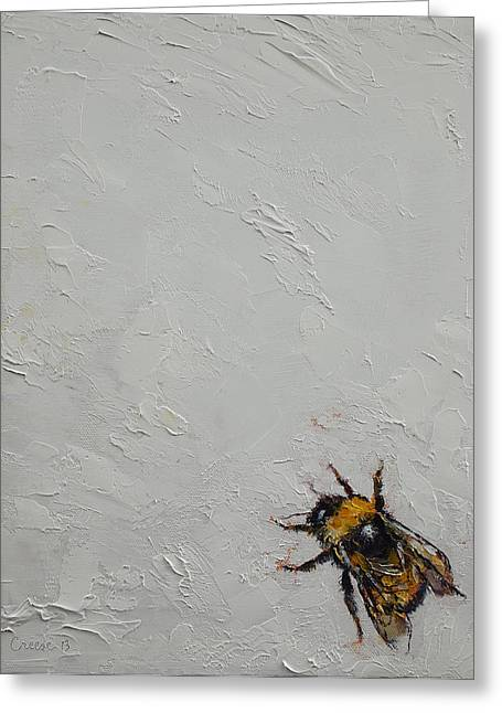 Bumblebee Greeting Card by Michael Creese