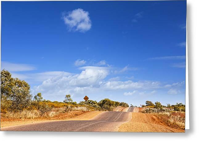 Bumpy Desert Road Outback Queensland Australia Greeting Card