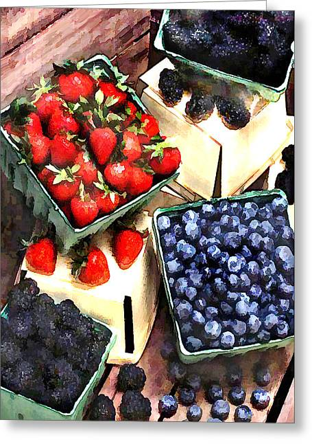 Bunch Of Berry Boxes Greeting Card by Elaine Plesser