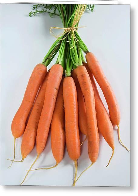 Bunch Of Carrots (daucus Carota Greeting Card by Nico Tondini