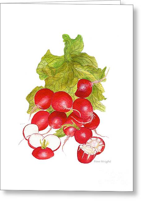 Bunch Of Radishes Greeting Card by Nan Wright