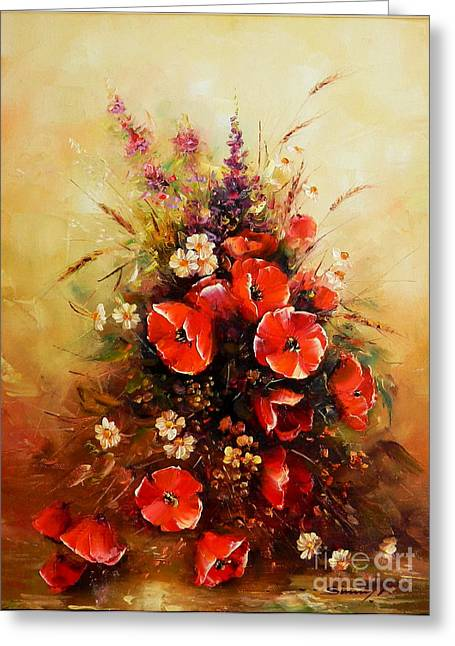 Bunch Of Wildflowers Greeting Card by Petrica Sincu