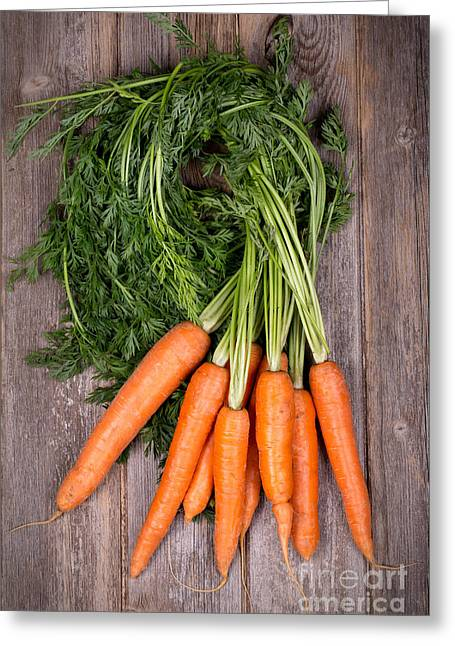 Bunched Carrots Greeting Card