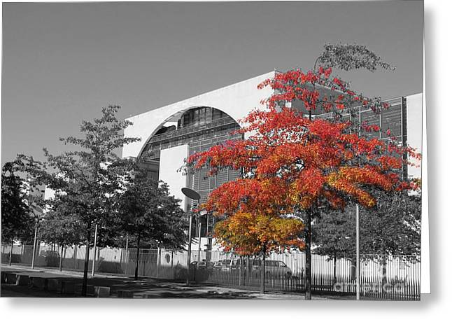 Bundeskanzleramt Chancellor's Office Greeting Card by Art Photography