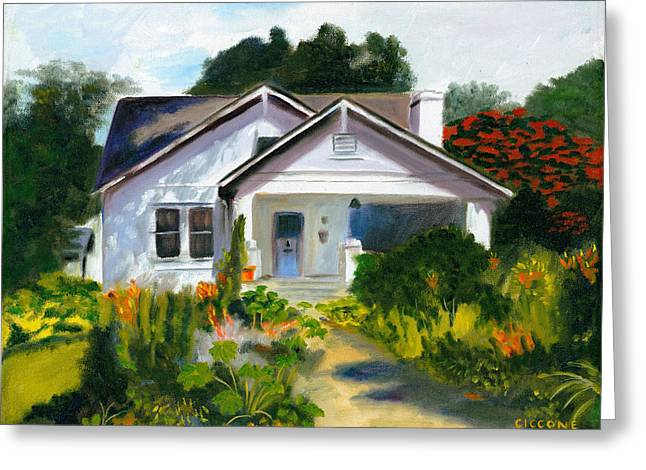 Bungalow In Sunlight Greeting Card