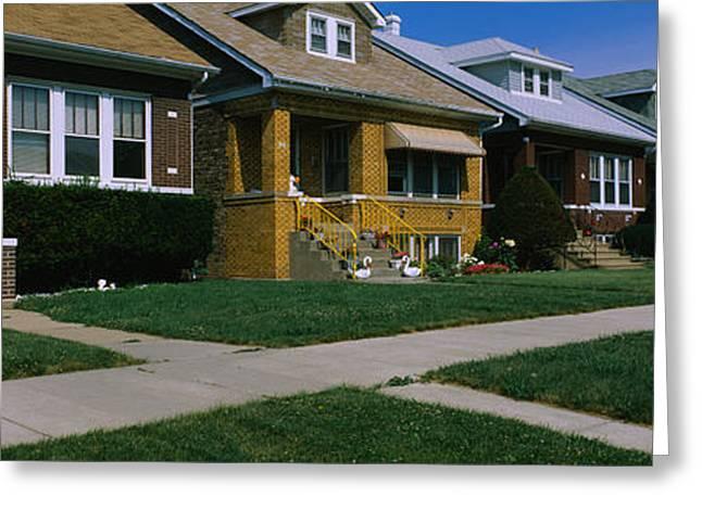 Bungalows In A Row, Berwyn, Chicago Greeting Card