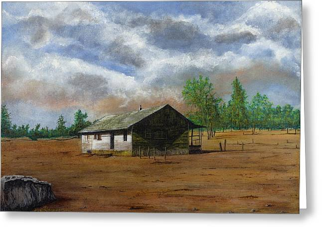 Bunk House Cheyenne Wy Greeting Card