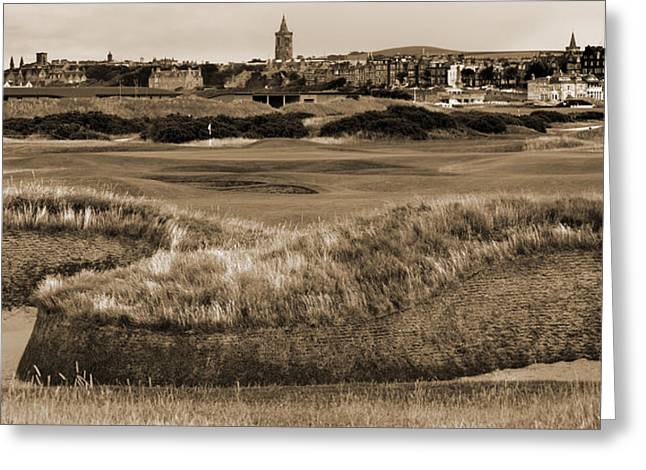 Bunker At St. Andrews Old Course Scotland Greeting Card