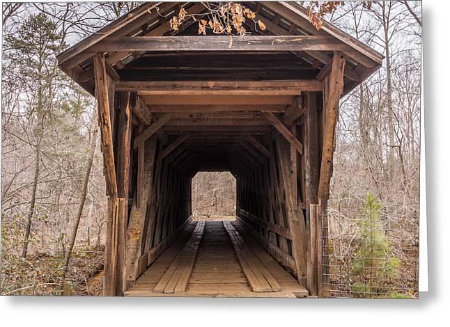 Bunker Hill Covered Bridge 1 Greeting Card by Randy Scherkenbach