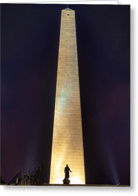 Bunker Hill Monument Greeting Card by Joann Vitali