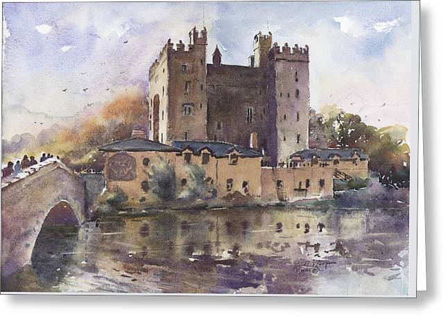 Bunratty Castle Reflections County Clare Greeting Card