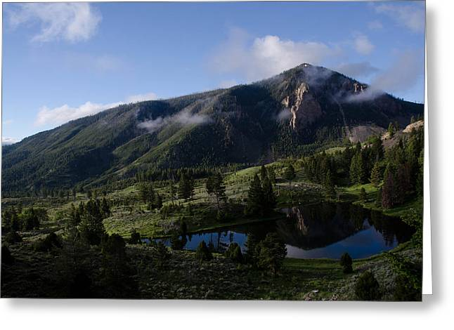 Bunsen Peak Reflection Greeting Card by Gary Wightman