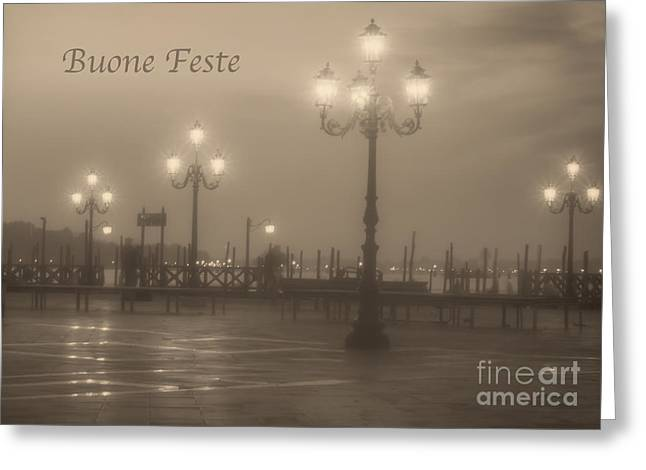 Buone Feste With Venice Lights Greeting Card
