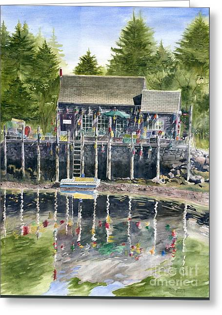 Buoy House Greeting Card by Melly Terpening