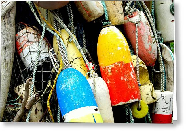 Buoys Greeting Card by Mamie Gunning