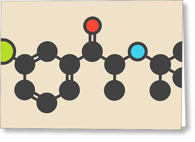 Bupropion Drug Molecule Greeting Card