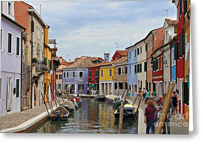 Burano Island Greeting Card by Cendrine Marrouat