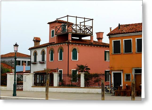 Burano Roof Terrace Greeting Card