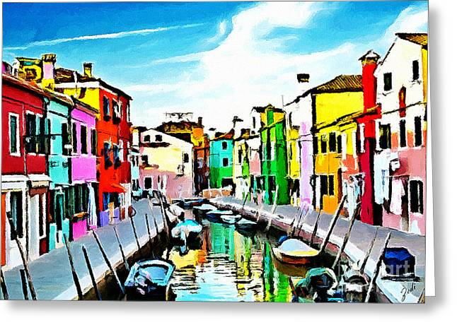 Burano - Venice - Italy Greeting Card by Ze  Di