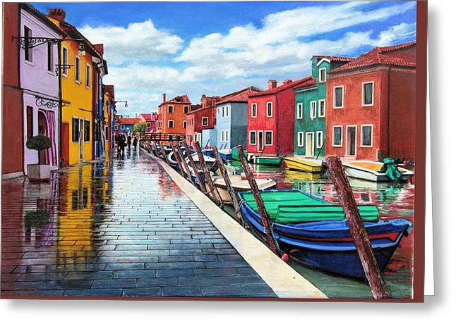Burano War Of Colors Greeting Card