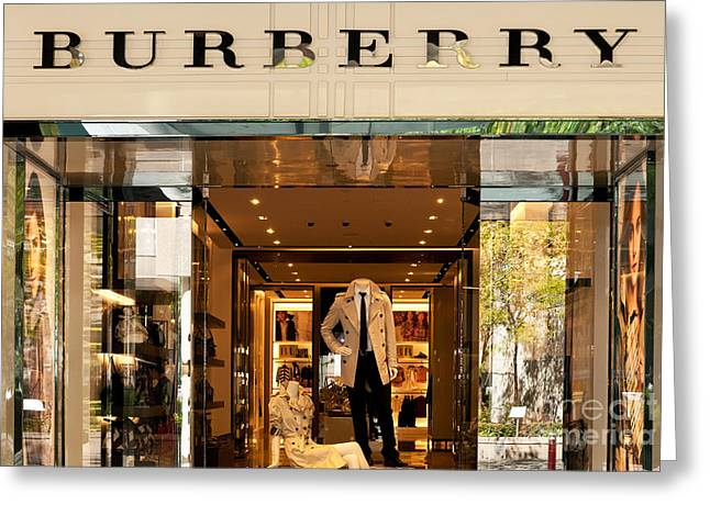 Burberry Greeting Card by Rick Piper Photography
