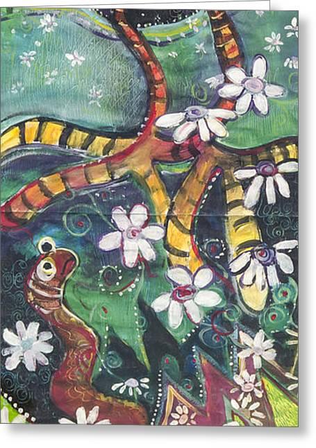Burden Worm Greeting Card by Leela Payne