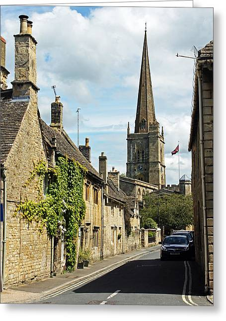 Burford Village Street Greeting Card