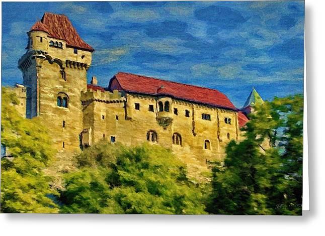 Burg Liechtenstein Greeting Card by Jeff Kolker