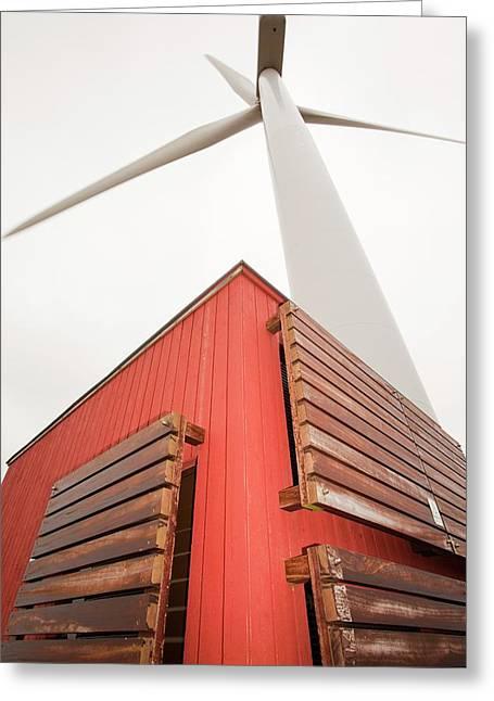 Burgar Hill Wind Farm Greeting Card by Ashley Cooper