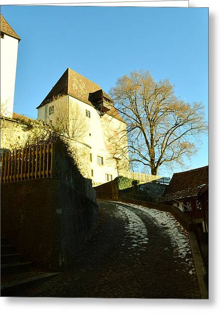 Greeting Card featuring the photograph Burgdorf Castle In December by Felicia Tica