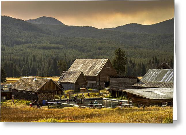 Burgdorf Hot Springs In Idaho Greeting Card