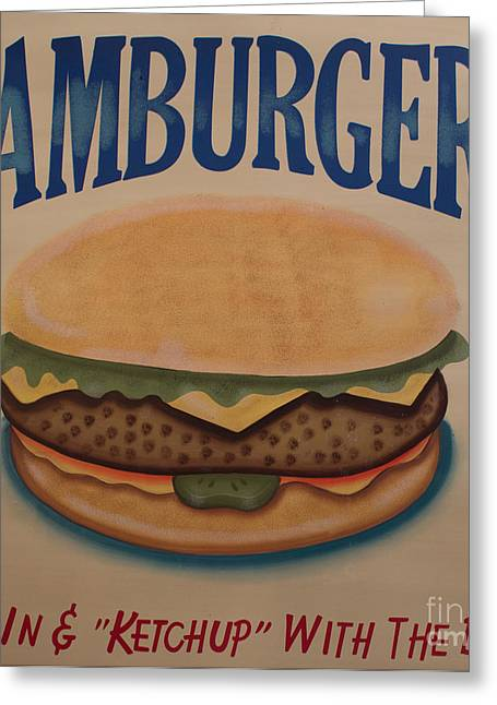 Burger And Bun Greeting Card by Steven Parker