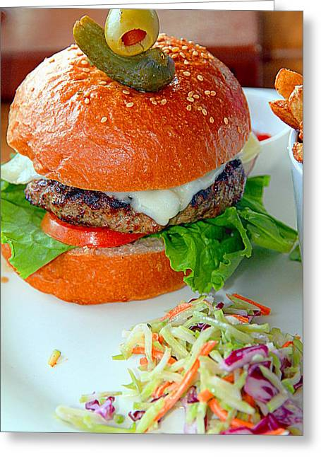 Burger And Coleslaw Greeting Card