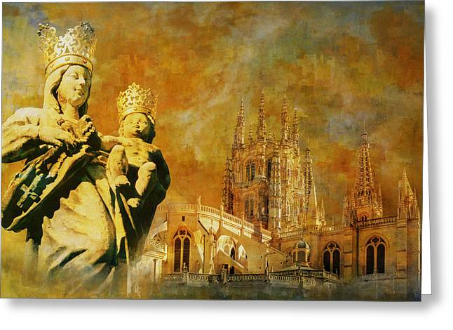 Burgos Cathedral Greeting Card by Catf