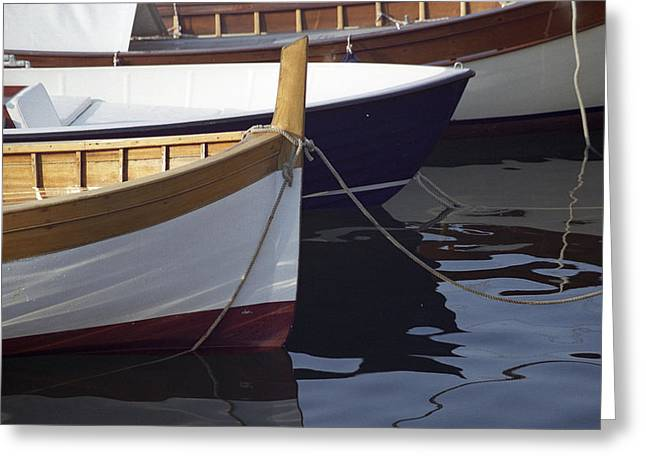 Burgundy Boat Greeting Card