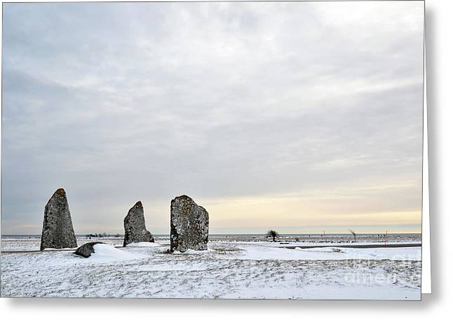 Greeting Card featuring the photograph Burial Ground Stones by Kennerth and Birgitta Kullman