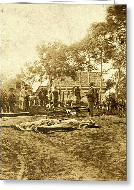 Burial Of The Union Dead At Fredericksburg Greeting Card by Litz Collection