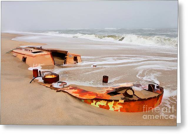 Buried Treasure On The Outer Banks II Greeting Card by Dan Carmichael