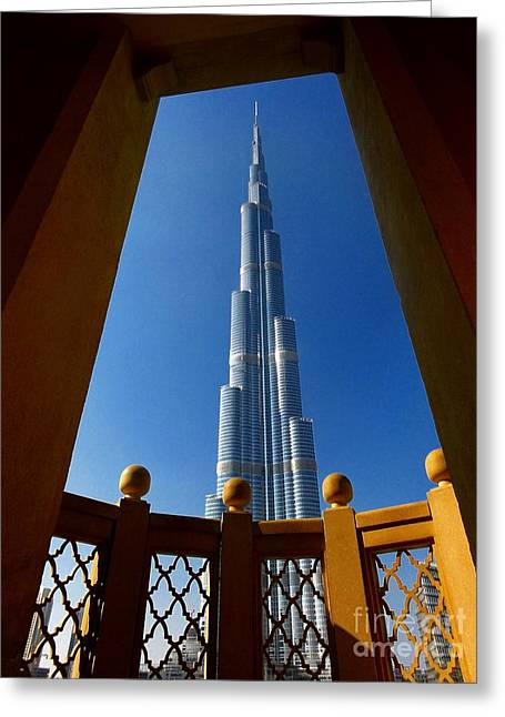 Greeting Card featuring the photograph Burj Khalifa by Henry Kowalski