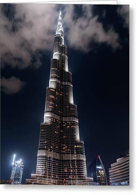 Burj Khalifa Skyscraper Greeting Card by Babak Tafreshi