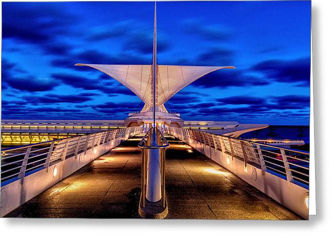Burke Brise Soleil At Blue Hour Greeting Card