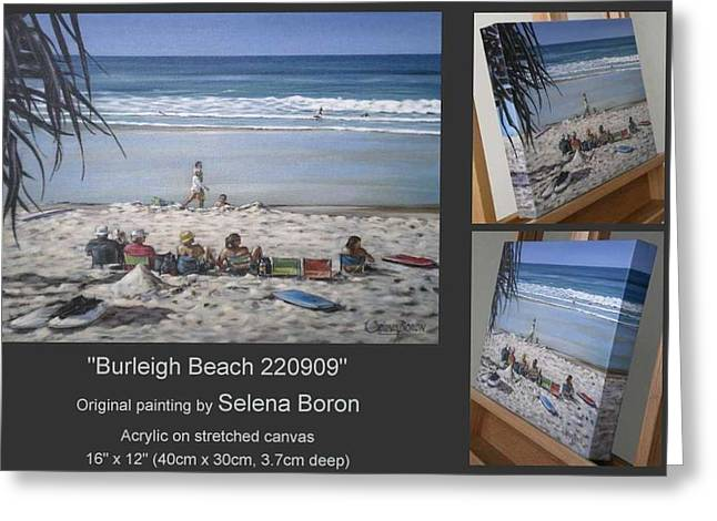 Greeting Card featuring the painting Burleigh Beach 220909 by Selena Boron
