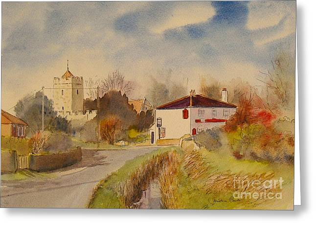 Greeting Card featuring the painting Burmarsh  Kent Uk by Beatrice Cloake