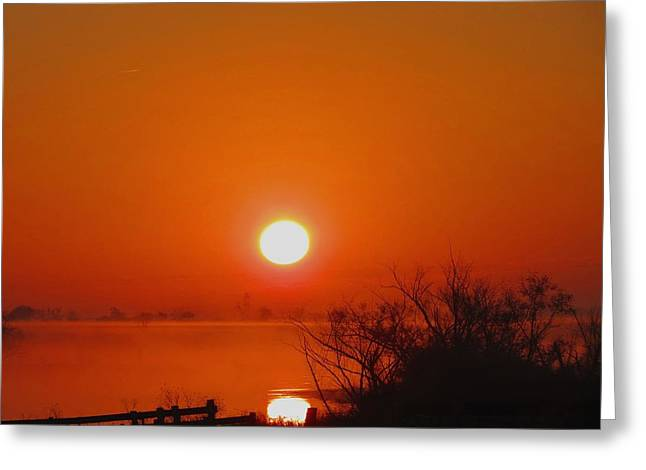 Greeting Card featuring the photograph Burn The Fog by David  Norman