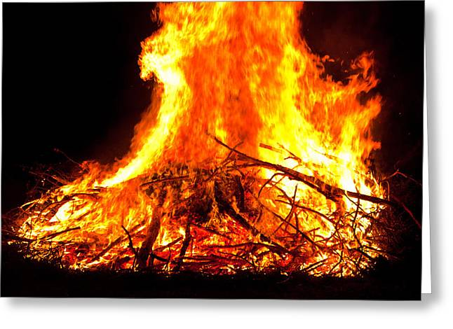 Burning Branches Greeting Card by Claus Siebenhaar