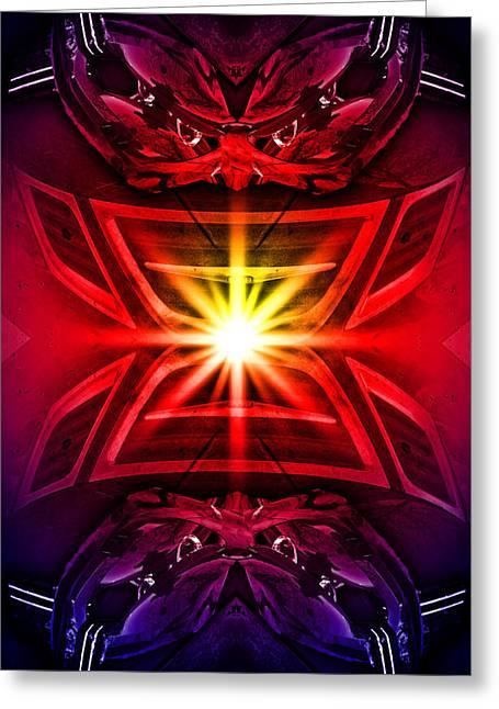 Burning Bright Greeting Card by Nathan Wright